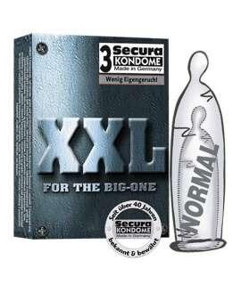 3 x Preservativos XXL, Tamanho Grande , Secura Kondome , welcomelover