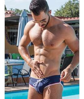 Bikini Mister B URBAN Long Beach Swim Azul, Sungas, , welcomelover