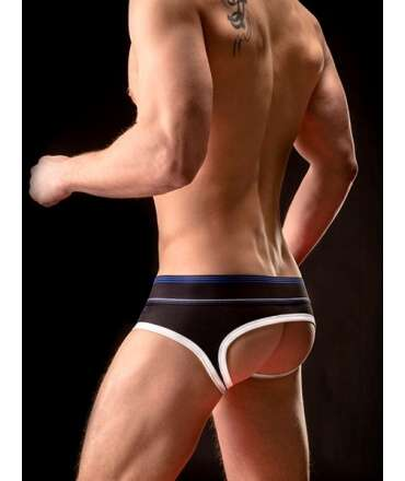 Jockstrap BARCODE Backless Brief Gustavo Preto Branco Azul, Jockstrap, Barcode Berlin , welcomelover