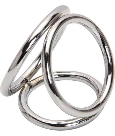 Cockring Triplo Steel, Cockrings, , welcomelover