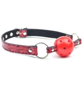 Mordaça Bondage Vermelha com Bola Respirável, Mordaças, , welcomelover