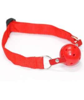 Mordaça Básica Vermelha com Bola Respirável, Mordaças, , welcomelover