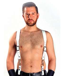 Combi Harness Braces Basic Branco, Harnesses, Mister B , welcomelover