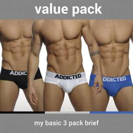 Pack 3 Cuecas Addicted My Basic Brief, Cuecas Homem, Addicted , welcomelover