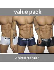 Pack 3 Boxers Addicted Mesh Boxer Push Up, Addicted e Barcode, Addicted , welcomelover