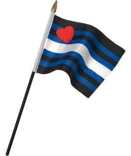 Bandeira Orgulho Couro 10 x 15 cm, Pride, , welcomelover