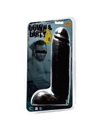 Dildo Wildfire Down & Dirty Preto 22 cm