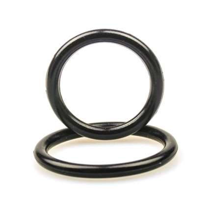 2 x Cockrings Silicone Preto, Cockrings, , welcomelover